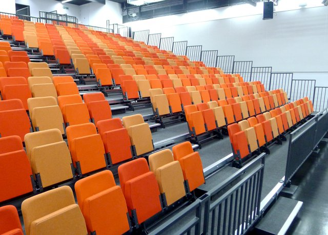 Dagenham Park Academy use retractable seating from Specialists in Seating